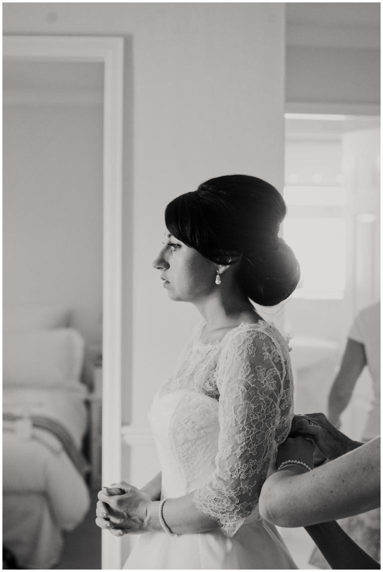 bride wearing Caroline Castigliano wedding dress