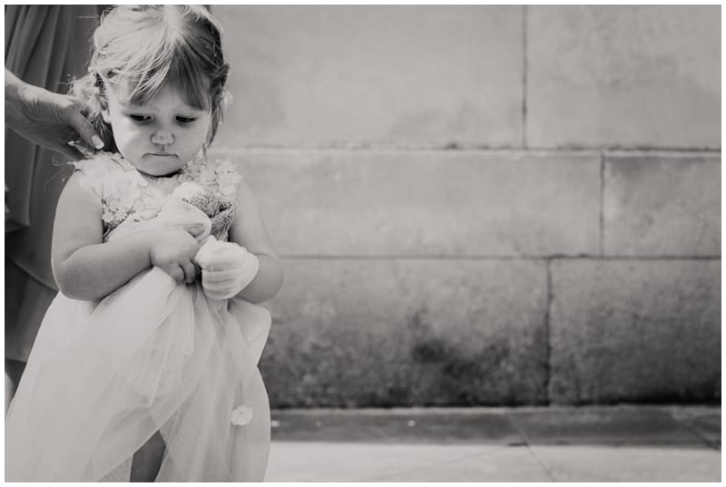 grumpy flower girl at ashton memorial wedding