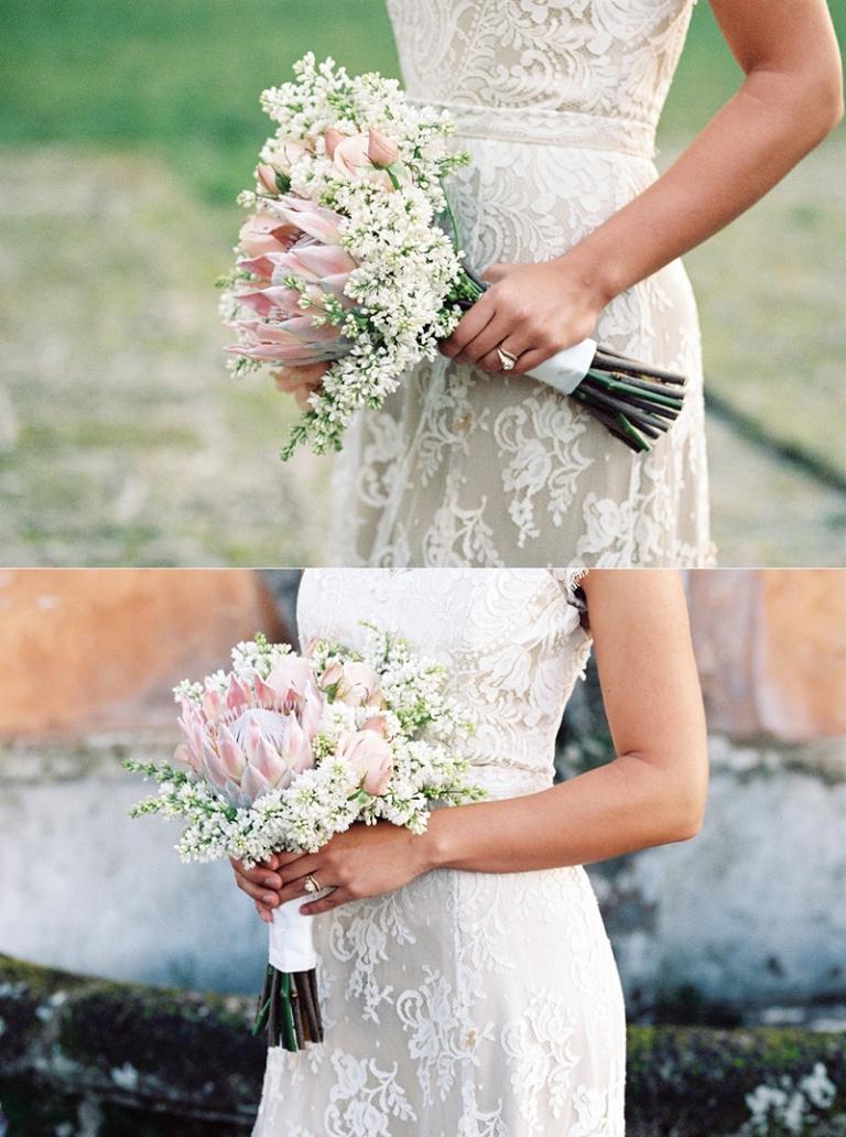 bridal shoot Italy florals