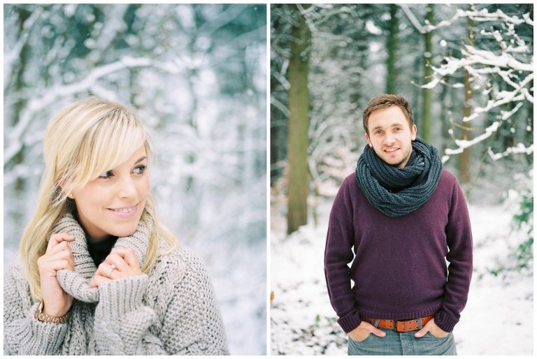 snow engagement shoot, Snow engagement shoot at Chevin Country Park, Yorkshire
