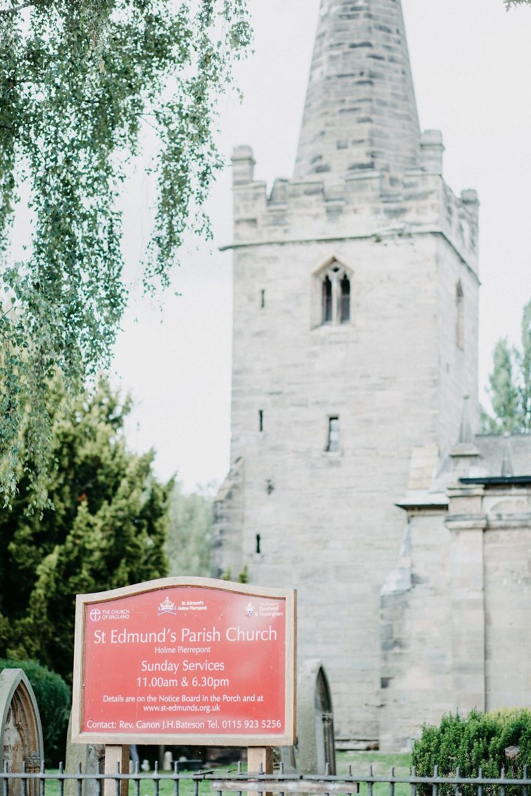 St Edmunds church Holme Pierrepont Hall